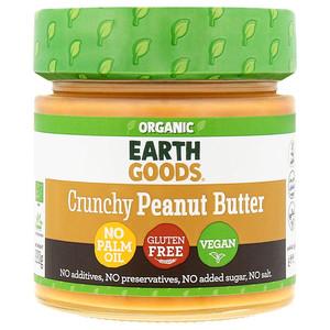 Earth Goods Organic Peanut Butter Crunchy 220g