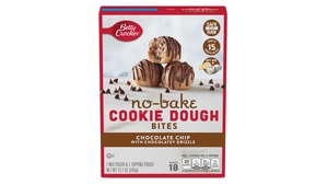 Betty Crocker No-Bake Bites Cookie Dough, Cookies & Cream With Vanilla Flavored Drizzle 345g