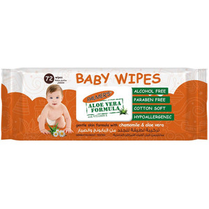 Palmers Baby Wipes Flow Pack 72s