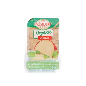 President Edam Organic Cheese Slices 150g