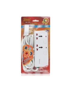 Sirocco Extension Socket 2 Way 2M W02S 1pc