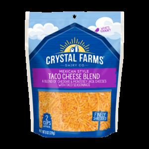 Crystal Farms Shredded Mexican Taco Cheese Blend 227g