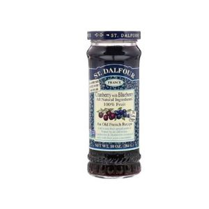 St. Dalfour Jam Cranberry & Blueberry 284g