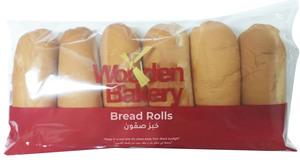 Wooden Bakery Bread Rolls White 6x53g