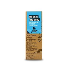 Freakin' Healthy Raw Chocolate Bar With Toasted Coconut 40g