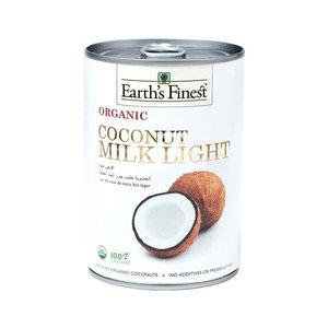 Earth's Finest Organic Coconut Milk Light Raw 400ml