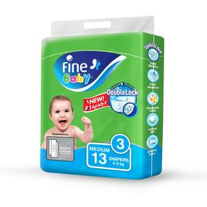 Fine Baby Diapers DoubleLock Technology Size 3 Medium 4 to 9kg 13s