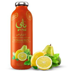Nai's Moroccan Mint Tea 100% Natural Glass Bottle 473ml