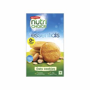 Britannia Nutri Choice Oats Cookies Orange Almond 75g