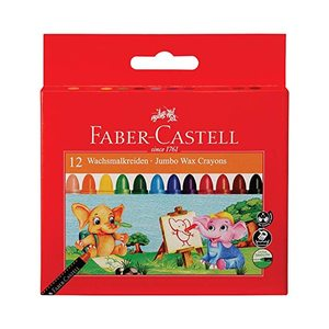 Faber Castell Wax Crayons 12 colour 90mm