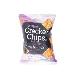 Sunwhite Rice Cracker Chips Black Pepper 90g