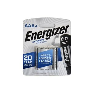 Energizer Lithium Photo Batteries Aaa 4 1pc