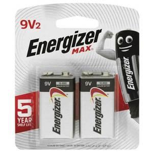 Energizer Max Alkaline Battery 9V 1pc