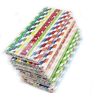Party Time Straw Straight Disposable Colour 25pcs
