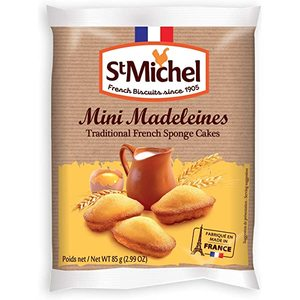 St Michel Mini Madeleines Traditional French Cake 85g