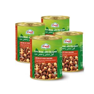 Al Wadi Fava Beans With Chickpeas In Brine 3x400g