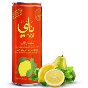 Nai's Moroccan Mint Tea 100% Natural Can 4x250ml