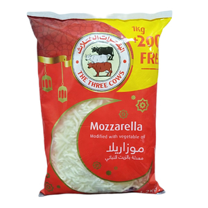 The Three Cow Shredded Cheese 1kg+200g