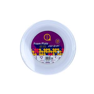 """Aswaaq Foam Plate 25pcs - 9"""""""