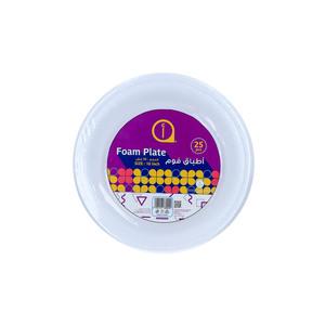 """Aswaaq Foam Plate 25pcs - 10"""""""