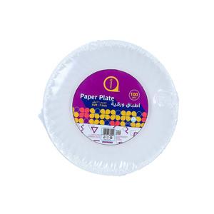 "Aswaaq Paper Plate 100pcs - 7"""