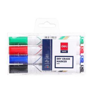 Deli White Board Marker 4pcs
