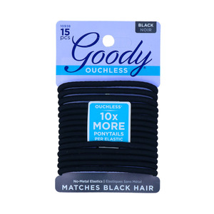 Goody 1941215 Ouchless Braided Elastics Black 1pc