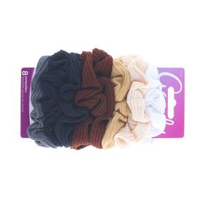 Goody Goody Scrunchie Ribbed Multicolour 16.5cm - 8pcs