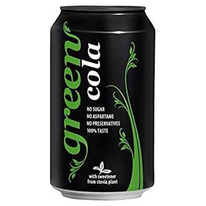 Green Cola Carbonated Drink Can 4x330ml