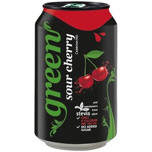 Green Cherry Carbonated Drink Can 4x330ml