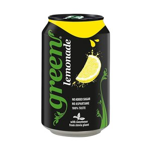 Green Lemon Carbonated Drink Can 4x330ml