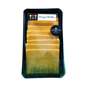 Singletons Orange Cheddar Cheese Slices 200g