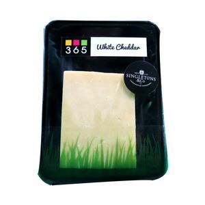 Singletons White Cheddar Cheese Portion 200g