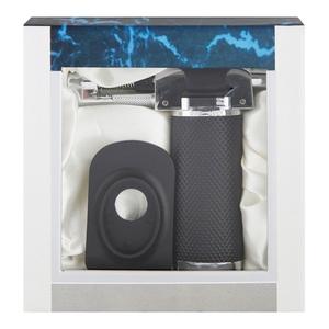 Portable Butane Gas Torch Black/Silver 1pc