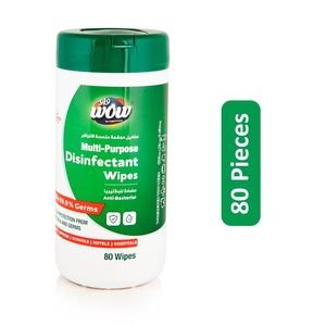 Wow Multi-Purpose Disinfectant Wipes 80pcs