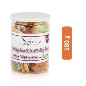 Nutsy Healthy Raw Nuts with Dry Fruits 180g