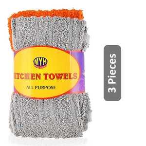 Mohd Yousuf All Purpose Kitchen Towels Multicolor 3pcs