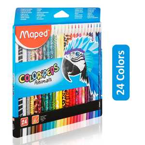 Maped Animals Color Peps 24colors