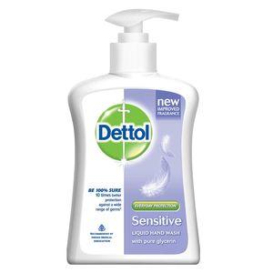 Dettol Sensitive Handwash Liquid Soap Pump Lavender & White Musk Fragrance 200ml