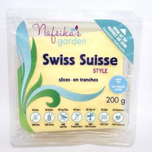 Nafsika's Garden Vegan Swiss Style Cheese Slices 200g