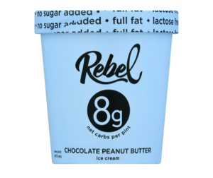 Rebel Chocolate Peanut Butter Ice Cream 473ml