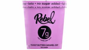 Rebel Peanut Butter Caramel Chip Ice Cream 473ml