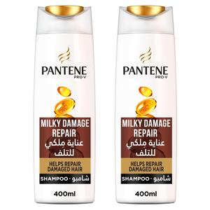 Pantene Pro-V Milky Damage Repair Shampoo Dual Pack 2x400ml