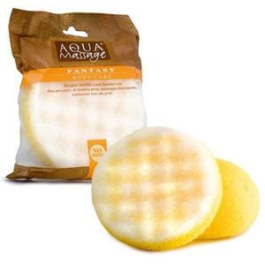 Aqua Massage Synthetic Bath Sponge Yellow 62 1pc
