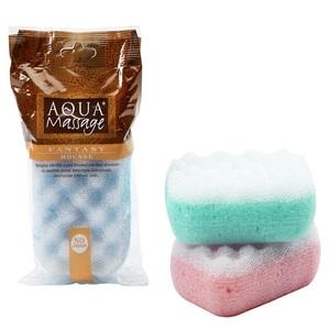 Aqua Massage Synthetic Sponge Rectangle 626 1pc