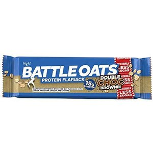 Battle Oats Protein Flapjack Doble Choco Brownie 70g
