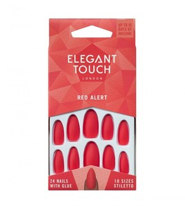 Elegant Touch Nails Red Alert 1pc