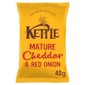 Kettle Mature Cheddar & Red Onion 40g