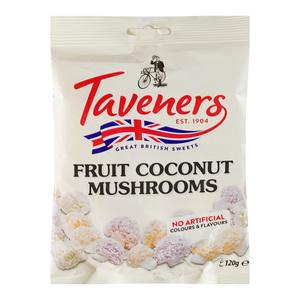 Taveners Fruit Mushrooms Sweets 120g