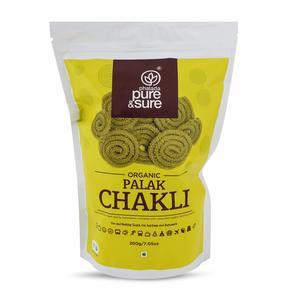 Pure & Sure Organic Palak Chakli 200g